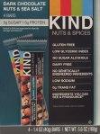 kind, dark chocolate, nuts, sea salt bars, review, price, nutrition