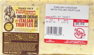 trader joe, review, price, calories, English cheddar, Italian truffles, nutrition, cheese