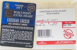 trader joe, cheese, wisconsin, extra sharp cheddar, review, nutrition, price