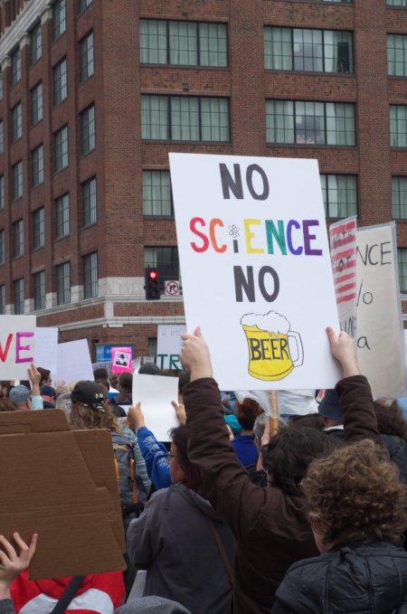 Science March, 2017, beer, street photography, protest