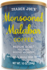 review, coffee, whole bean, trader joe, monsooned malabar, price