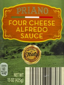 ALDI, priano, four cheese alfredo sauce, nutrition, price, calories, review