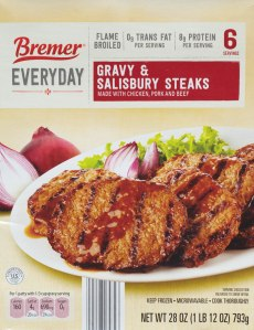 ALDI, Bremer Gravy and Salisbury Steaks, Nutrition, Review, Calories, Price