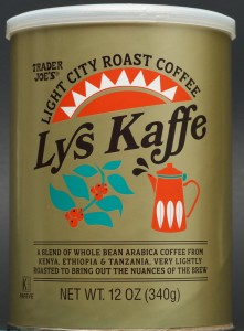 trader joe, review, price, whole bean coffee, lys kaffe, light coffee