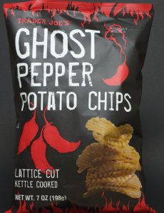 trader joe, review, nutrition, price, calories, ghost pepper potato chips