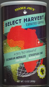 trader joe, review, price, select harvest curated coffee, whole bean