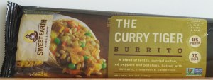 Sweet Earth, curry tiger burrito, food, review, vegan, calories, nutrition, price