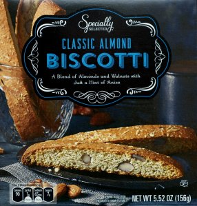 aldi, almond biscotti, food, review, price, calories, nutrition
