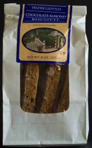 trader joe, chocolate almond biscotti, price, calories, nutrition, review