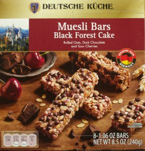 aldi, Black Forest Cake Muesli Bars, food, review, price, calories, nutrition
