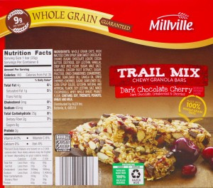 ALDI, Millville, Trail Mix Chewy Granola Bars, snack, review, price, nutrition