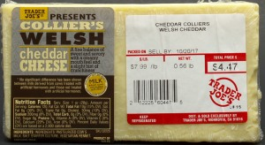TJ, trader joe, Colliers Welsh Cheddar Cheese, price, review, nutrition, calories