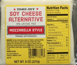 trader joe's, food, review, nutrition, price, calories, soy cheese alternative