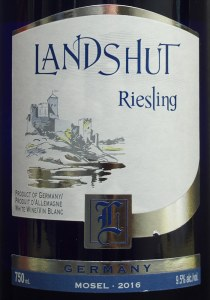 aldi, landshut riesling, 2016. white wine, sweet, review, price. mosel
