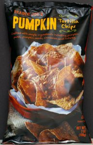 Trader Joe's, Pumpkin Tortilla Chips, review, price, calories, nutrition