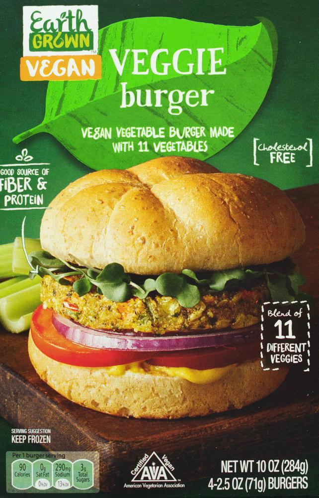 Aldi Earth Grown Veggie Burger Vegan Food Review