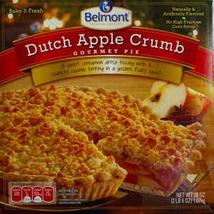 ALDI, Belmont, Dutch Apple Crumb Pie, review, calories, price, nutrition