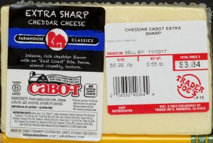 TJ, trader joe's, cabot, extra sharp cheddar, review, price, calories, nutrition