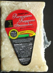tj, trader joe, review, calories, nutrition, price, cheese, parmigiano reggiano stravecchio