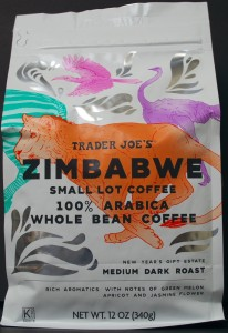 Trader Joe's, Zimbabwe, review, price, whole bean coffee
