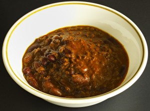recipe, food, vegetarian, soy chorizo, beans, chili
