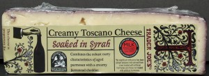 trader joes, toscano cheese, syrah, review, price, calories, nutrtion