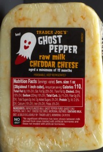 Trader Joe's, ghost pepper cheddar cheese, review, price, calories, nutrition