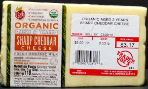 trader joe, tj, review, calories, price, nutrition, organic sharp cheddar cheese