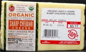 trader joe, tj, review, calories, price, nutrition, organic sharp cheddar cheese