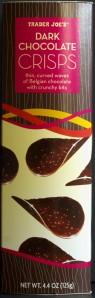 Trader Joe's, dark chocolate crisps, review, price, calories, nutrition