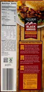 aldi, review, price, calories, nutrition, black angus, bacon cheddar beef patties
