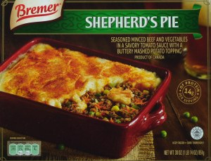 ALDI, bremer, shepherds pie, price, review, calories, nutrition