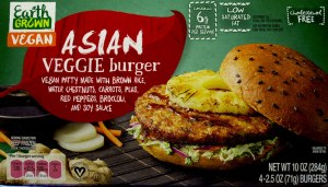 ALDI, earth grown, asian veggie burger, price, review, calories, nutrition, vegan
