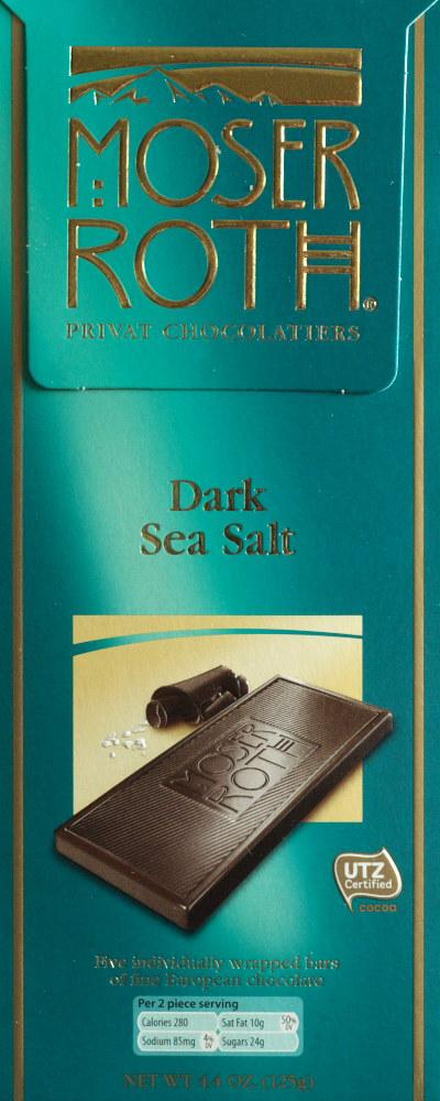 Aldi Moser Roth Dark Sea Salt Chocolate Food Review
