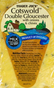 Trader Joe's, double gloucester cheese, review, price, calories, nutrition