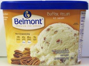ALDI, belmont, premium ice cream, butter pecan, price, review, calories, nutrition