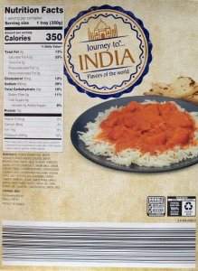 ALDI, journey to india, flavors of the world, butter chicken, price, review, calories, nutrition
