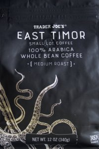 Trader Joe's, coffee, review, price, east timor medium roast, whole bean