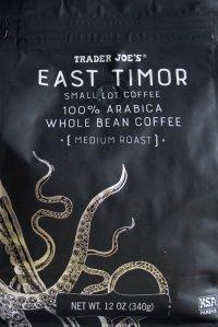 Trader Joe's, coffee, review, price, east timor medium roast, whole bean