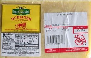 Trader Joe's, kerrygold, dulbiner, cheese, review, price, calories, nutrition