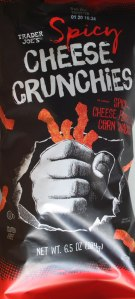 Trader Joe, Spicy Cheese Crunchies, price, calories, nutrition, review, snack